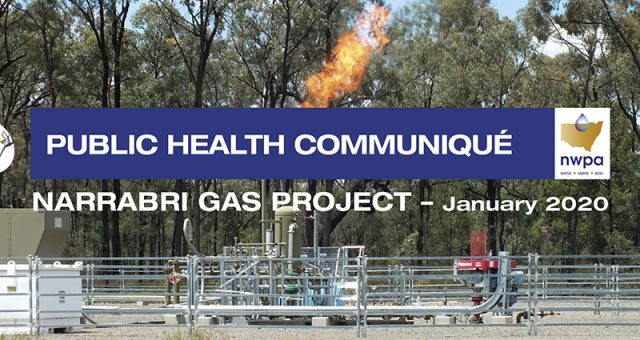Public Health Communiqúe – Narrabri Gas Project – January 2020