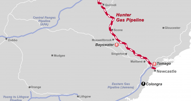 Queensland Hunter Gas Pipeline Approved Maps