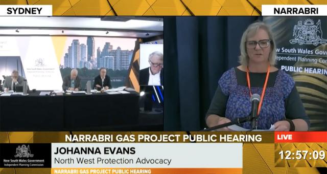 Johanna Evans presents the NWPA evidence to the IPC